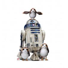Porgs with R2-D2 Cardboard Cutout