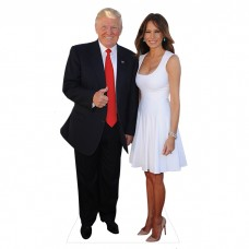 Donald Trump and Melania Cardboard Cutout