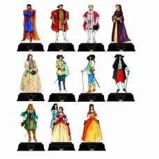 British Kings and Queens Pack 4 1485-1714 Cardboard Cutout
