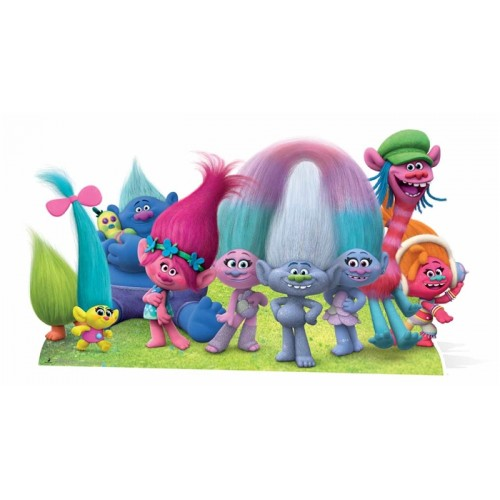 Trolls movie Cardboard Standees